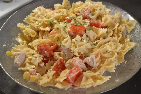 Salade farfalles poulet recette cookeo