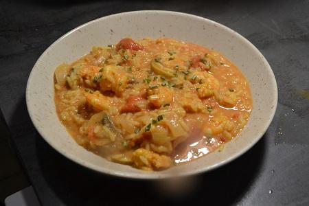 Riz crevettes curry recette cookeo