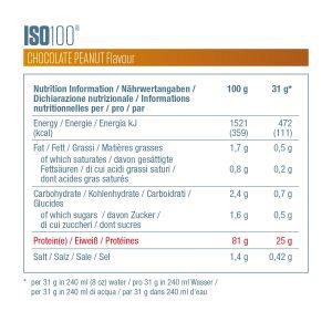 Ingrédients ISO 100