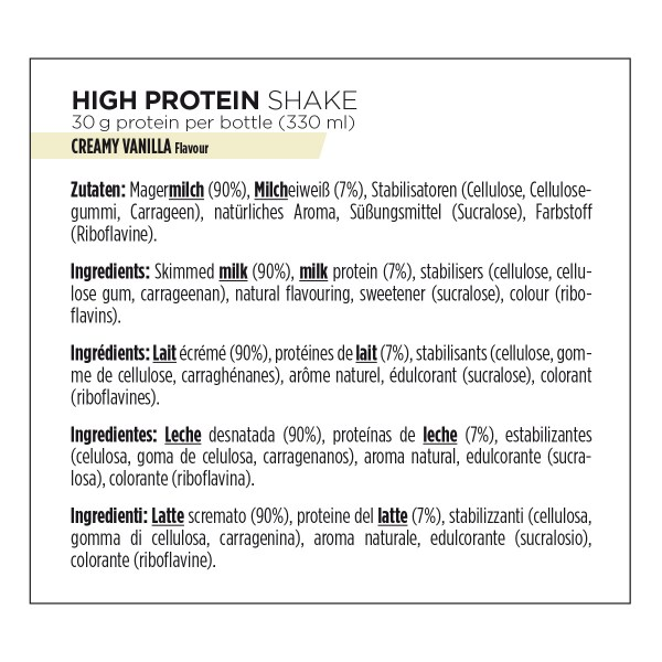 Boisson protéinée Shake