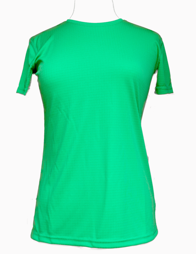 Lady's green crew shirt
