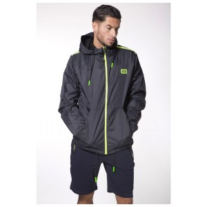 My Brand S3 Sport Windjacket Navy/Neon Green