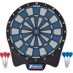 Unicorn dartbord Soft Tip 40,5 cm blauw/wit/zwart 7 delig