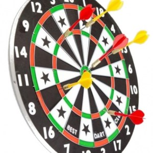 Lifetime Games dartbord met pijlen 38 cm 7 delig