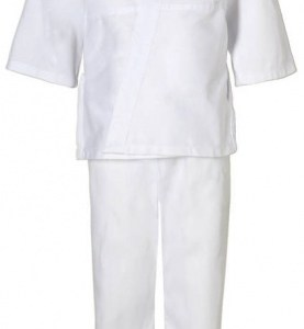 adidas judopak J181 junior wit maat 130 cm