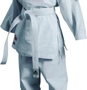 adidas karatepak K200 junior wit maat 140 150 cm