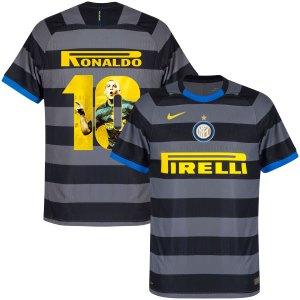 Inter Milan Vapor Match 3e Shirt 2020-2021 + Ronaldo 10 (Gallery Style) - M