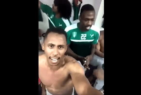 بالفيديو .. فرحة سعيد المولد في غرفة الملابس بعد التأهل دوري أبطال آسيا