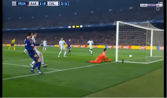بالفيديو.. ميسي يهز شباك تشيلسي بالهدف الأول لبرشلونة