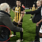 بالفيديو.. رئيس ناد يقتحم الملعب بمسدس مهددا الحكم بعد إلغاء هدف