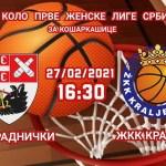 Košarkašice kragujevačkog Radničkog protiv Kraljeva potvrđuju opstanak u ligi
