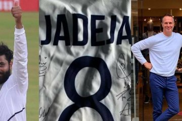 ENG vs IND: Ravindra Jadeja gifts his Test jersey signed by Indian players to Michael Vaughan for charity