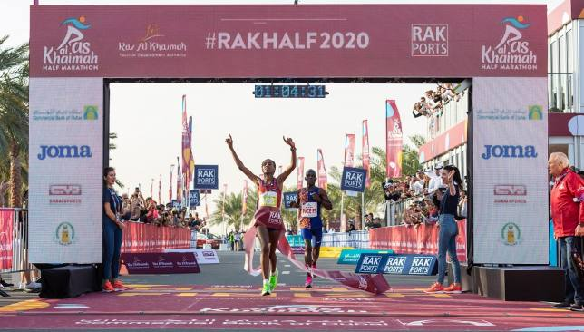 Ababel Yeshaneh smashes world record at RAK Half Marathon - Sport360 News
