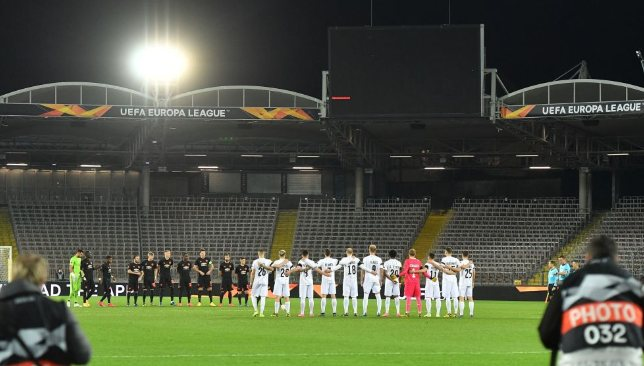 Man United faced LASK in the Europa League in a behind-closed-doors clash