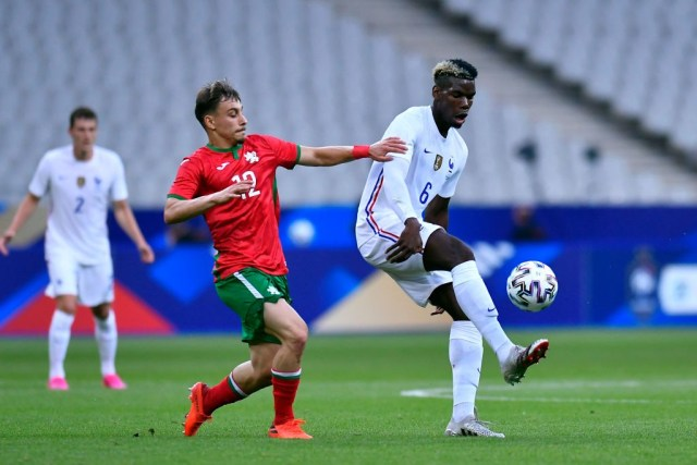 Key player: Paul Pogba during the international friendly match between France and Bulgaria