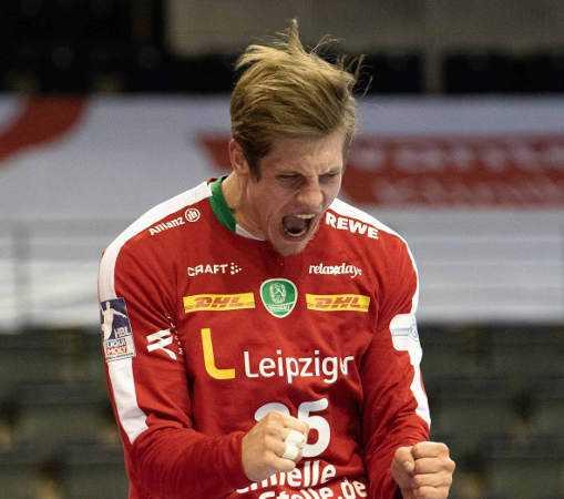 Handball Bundesliga: Joel Birlehm – SC DHfK Leipzig vs. Füchse Berlin – Foto: Klaus Trotter