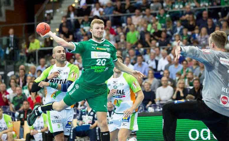 SC DHfK Leipzig vs. HSG Wetzlar - Philipp Weber - Handball Bundesliga - Arena Leipzig am 23. September 2018 - Foto: Karsten Mann