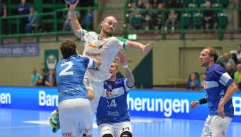 Maximilian Janke - SC DHfK Leipzig vs. Bergischer HC - Foto: Rainer Justen