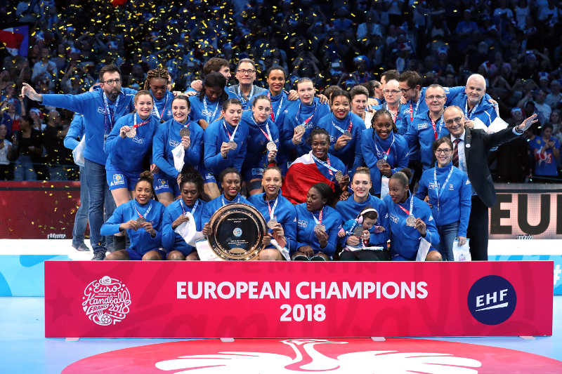 Handball EM 2018 - Frankreich Europameister - Frankreich vs. Russland - Paris am 16.12.2018 - Copyright: FFHandball / S. Pillaud