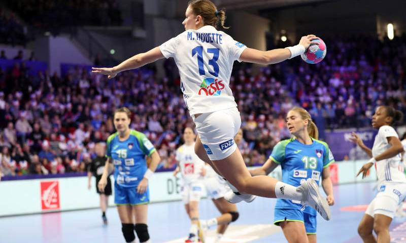 Handball EM 2018 - Manon Houette - Frankreich vs. Slowenien - Copyright: FFHandball / S. Pillaud