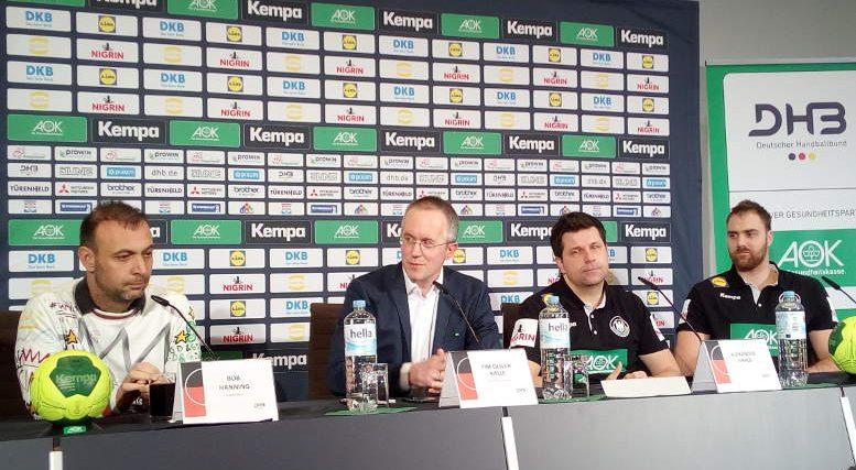 Handball WM 2019 - DHB Pressekonferenz am 16.01.2019 in Berlin nach Deutschland vs. Frankreich - Foto: SPORT4FINAL
