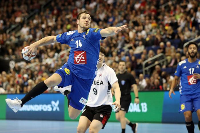 Handball WM 2019 Kentin Mahe - Frankreich vs. Korea - Copyright: FFHandball / S. Pillaud