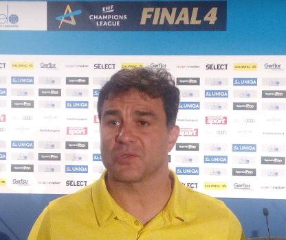 Handball DELO Frauen EHF Champions League Final4 Budapest 2019: Chefcoach Ambros Martin (HC Rostov-Don) im SPORT4FINAL-Interview