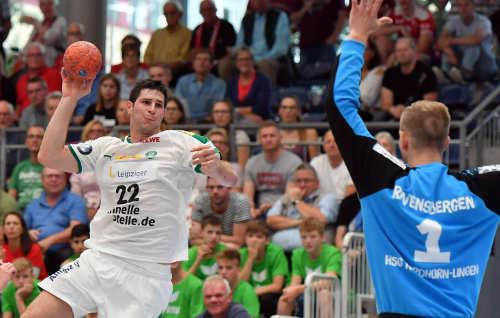 Handball DHB Pokal - HSG Nordhorn-Lingen vs. SC DHfK Leipzig - Marko Mamic - Foto: Rainer Justen