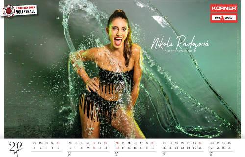 Dresdner SC Kalender 2020 - Nikola Radosova - Foto: Amelie Jehmlich (Art-n-Photo)