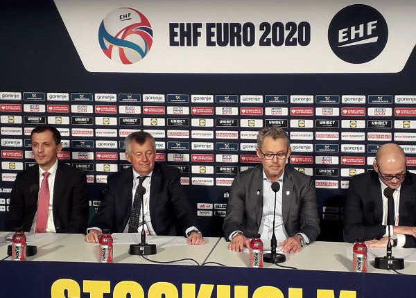 Handball EM 2020 - EHF EURO Abschluss-Pressekonferenz am 25. Januar 2020 - Predrag Boskovic, Michael Wiederer, Krister Bergström, Martin Hausleitner (v.l.) - Copyright: SPORT4FINAL