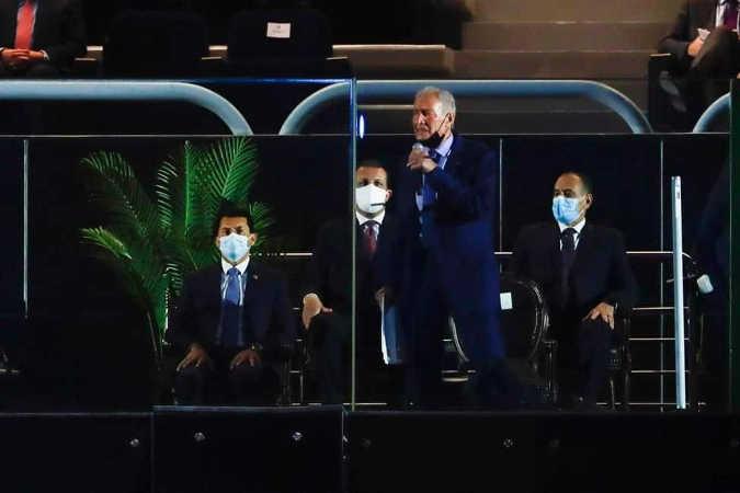 Handball WM 2021 Ägypten – Eröffnung IHF-Präsident Dr. Hassan Mustafa – Copyright: © IHF / Egypt 2021