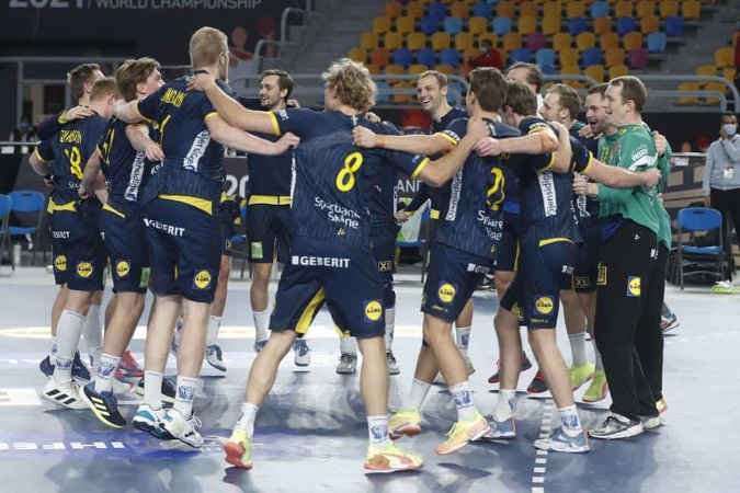 Handball WM 2021 Ägypten – Schweden (im Bild) vs. Russland – Copyright: © IHF / Egypt 2021
