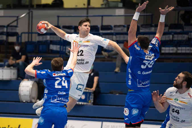 Handball Bundesliga: Marko Mamic – TBV Lemgo Lippe vs. SC DHfK Leipzig – Foto: Klaus Trotter