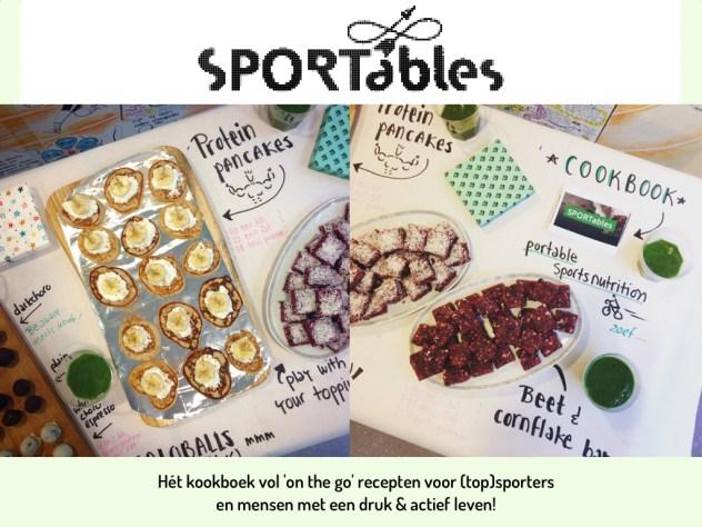 SPORTables karin lambrechtse uitgeverij loopvis sportvoeding kookboek