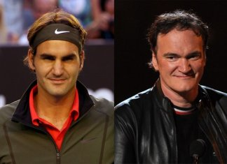 Roger Federer and Quentin Tarantino