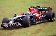 SAO PAULO,BRAZIL,02.NOV.08 - FORMULA 1, MOTORSPORT - Formula One Grand Prix of Brazil, Interlagos, Sunday. Image shows Sebastien Bourdais (FRA/ Scuderia Toro Rosso).