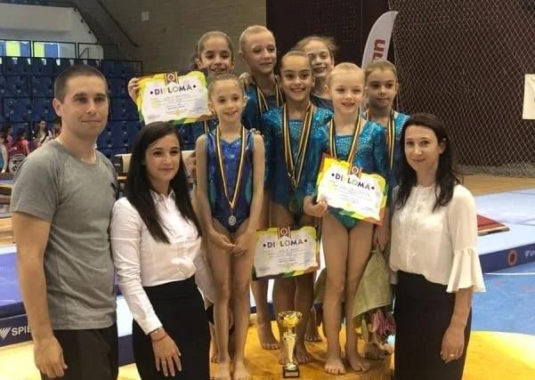 Gimnastele CSM-ului sunt campioane naţionale la 9 ani!