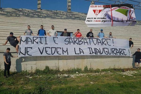 """Taxă la sărbătoarea inaugurării stadionului """"Francisc Neuman"""":  """"2 bani, nici cât valorează speranțele noastre"""""""