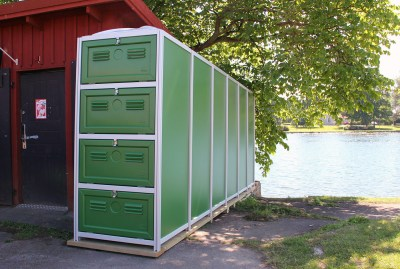 Sportbox with 4 doors for kayaks - Motala, Sweden
