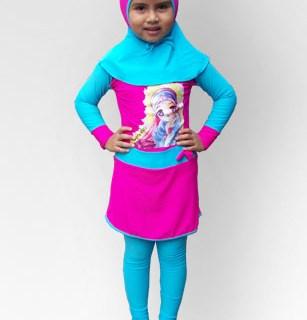 Baju Renang Anak CS-20 Muslimah Princess