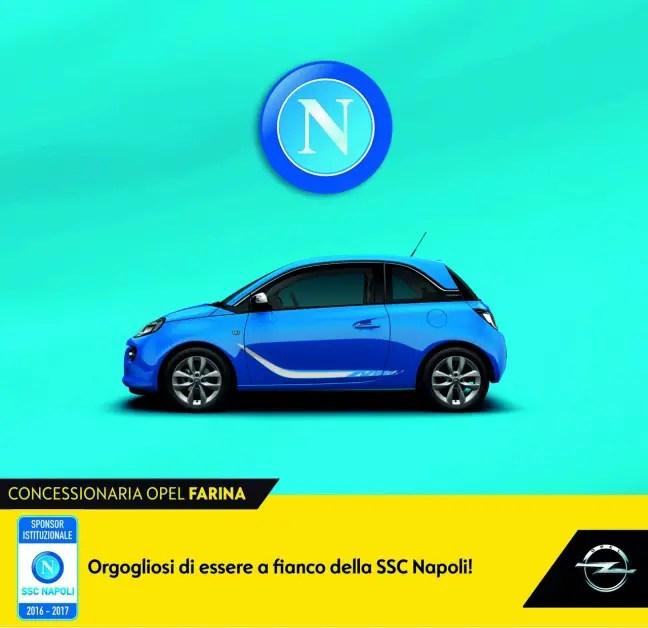 Il Napoli rinnova il contratto di sponsorizzazione con Opel Farina