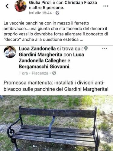 panchine antibivacco giardini margherita