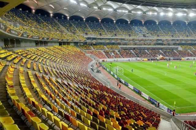 Arena Nationala din Bucuresti aproape fara spectatori