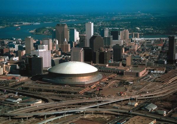 SuperDome vue aérienne - La Nouvelle Orléans
