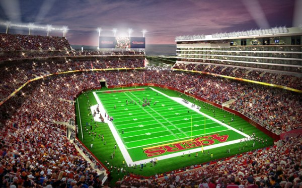 Levi's Stadium de Santa Clara - vue intérieure