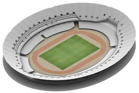 Reconversion du Stade Olympique Londres - configuration athlétisme