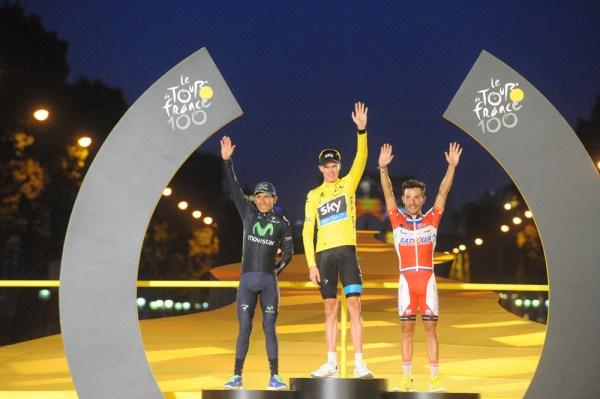 Podium du Tour de France 2013