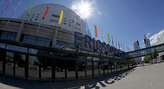 Vue extérieure de l'Ericsson Globe (Crédits - Site officiel / Sören Andersson)