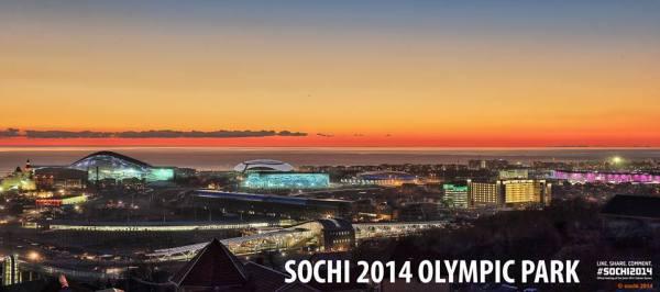 Sotchi 2014 - Parc Olympique vue de nuit