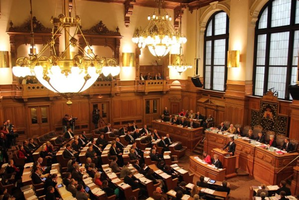 Hamburg - Bürgerschaft - salle